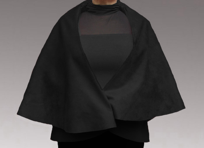 Faux leather cape/wrap -Without Stencil